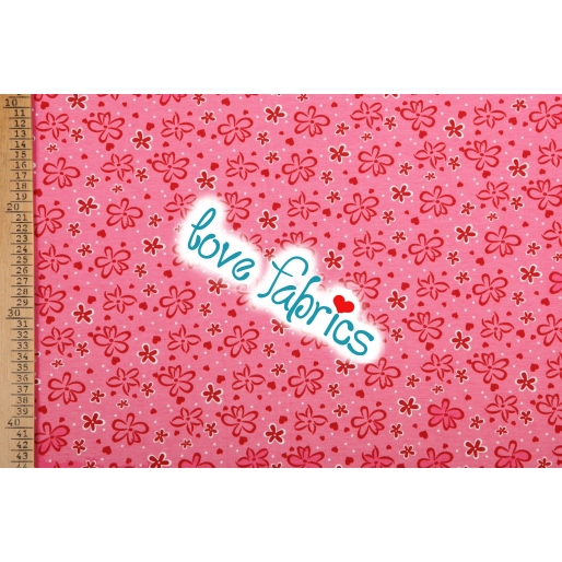 Blossoms & hearts pink