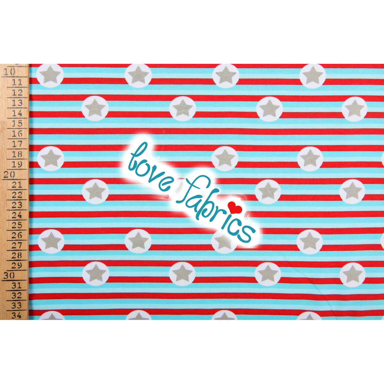 Stars on stripes light turquoise