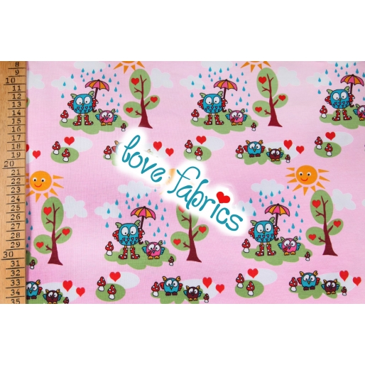 Spring owls rosa